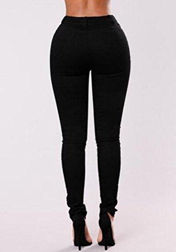 Tregging Jegging Jeans Crayon Jeans Stretch Noir Jean Dchirs Trous Taille Pantalons Trou Haute Slim Femme Dchir ISSHE Jean Pantalon Rtro Pantalon Femmes Denim Leggings Skinny 4PcWqOx7Ax