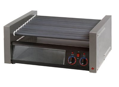Star 50SCBBC Grill-Max Stadium Hot Dog Roller Grill w/ Duratec Non-Stick Rollers (50 Hot Dogs Capacity) & Clear Bun Door