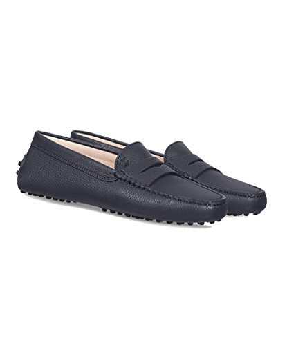 Tod's Women's XXW00G000105J1U810 Blue Leather Loafers free shipping largest supplier clearance visit kCMGzNfHyT