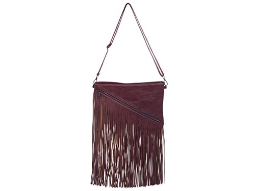 Burgundy Wedding LeahWard Cross Clutch Tassel Women's Body Handbags Bags 8wpUgwq