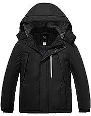 ZSHOW Boy's Waterproof Ski Jacket Windbproof Thick Winter Parka Coat with Detachable Hood