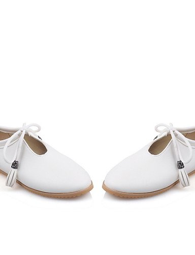 Cn39 Zapatos Semicuero Planos 5 Uk8 Eu42 Negro Redonda Punta Uk6 Black White Blanco Mujer Tac¨®n Plano Cn43 Rojo Casual us10 De Comfort Eu39 5 Zq us8 UdAqwFq