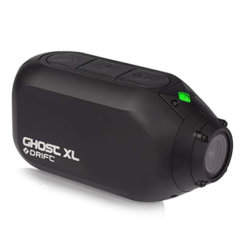 Drift Ghost XL Waterproof Action Camera - 9 Hours Battery Life - 1080P Full HD - Rotating Lens - Dash Cam Mode - Video Tagging - Event Detection - WiFi - External Microphone (Optional)
