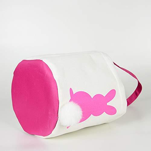 Main Collation Enfants De Cadeau Delidraw Pâques Pink Pcs 1 Panier Bonbons Sac Lapin Biscuits À Poche qxOTxw