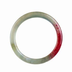 Real Blush Red Jade 2 Inch Bangle Bracelet