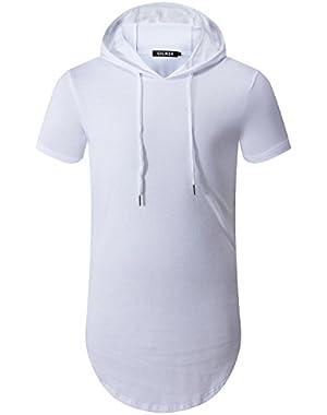 Men's Hipster Hip Hop Hoodie Side Zipper Tshirt