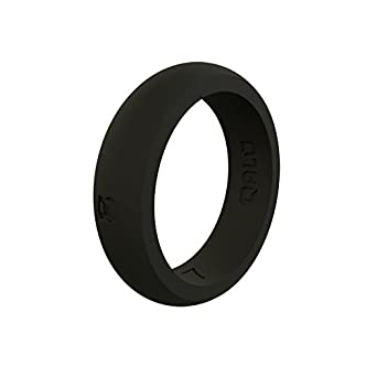 Pack of 3 QALO Standard Womens Charcoal Laurel Ring