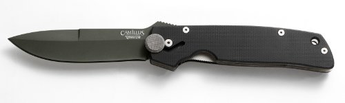 Camillus Carbonitride Titanium Cuda Black Folding Knife with Quick Release, 9- Inch, Outdoor Stuffs