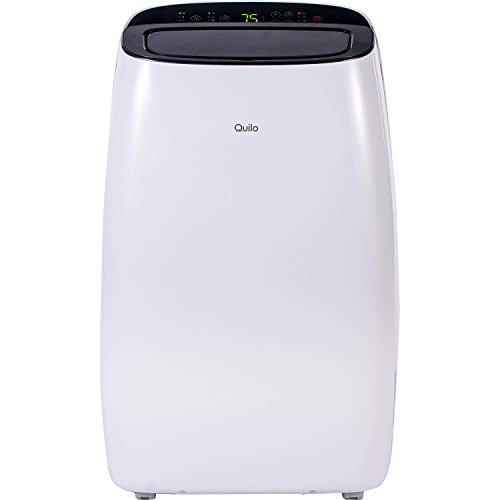 Quilo Portable Air Conditioner, Standing AC Unit with Dehumidifier & Cooling Fan for Rooms Up To 550 Sq. Ft. - with Easy-To-Install Window Kit, QP112WK, 12000 BTU (White/Black)