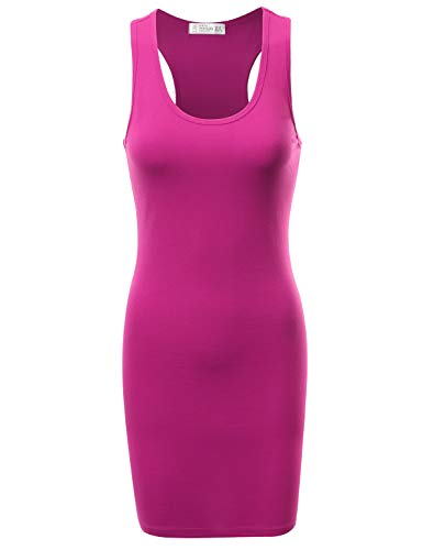 - FPT Women's Racerback Tank Dress Fuchsia S