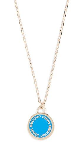 Marc Jacobs Women's Logo Disc Pendant Necklace, Sapphire, One Size