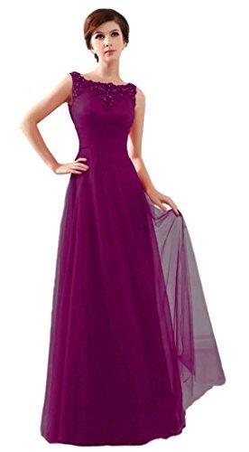 A Drasawee Linie Kleid Violett Damen 6nvUgA