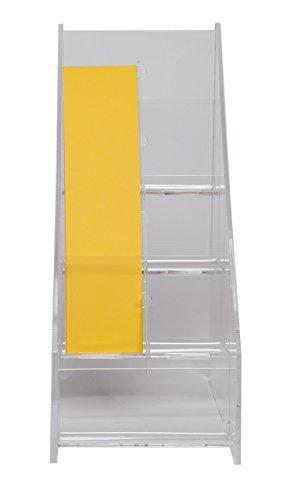 Plastic Leaflet Display Rack - 8 pocket Bookmark Displays with Dividers | Book Mark Rack | Bookmarker Display | Vertical Business Card Holder