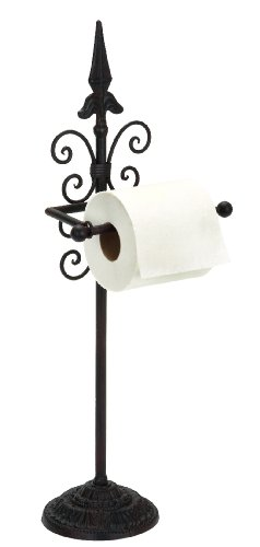 Deco 79 Metal Toilet Paper Holder, 24-Inch by 9-Inch Deco Toilet