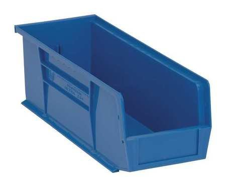Quantum QUS234 Plastic Storage Stacking Ultra Bin, 14-Inch by 5-Inch by 5-Inch, Blue, Case of 12