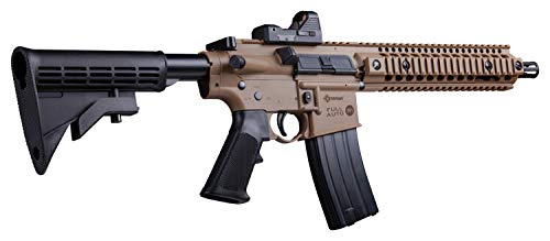 Crosman CFAR1X Full Auto R1 CO₂ BB Air Rifle with Dual Action Capability and Red Dot Sight