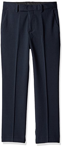 Calvin Klein Big Boys' Bi Stretch Pant, Navy 2, (Boys Navy Dress Pants)
