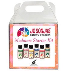 - Jo Sonja's Acrylic Medium Starter Kit, Six 2 Ounce Bottles