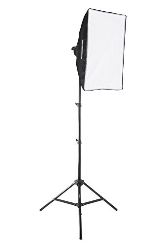 "Fovitec StudioPRO 1600 Watt 24""x36"" Softbox Continuous Lighting Kit - Portrait Photography, Photo & Video Studio Essentials Includes Light Stand & 45W CFL Light Bulbs"