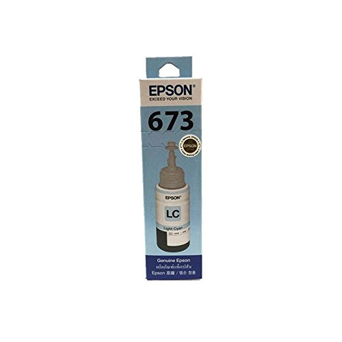 EPSON 673 (T6735) Ink Bottle Tank System Inkjet Refill for EPSON Printers, Light Cyan ink, Pack 1 pcs.