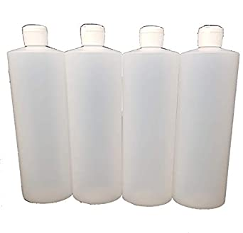 Amazon.com: 4 – 32 oz HDPE Botellas De Plástico Con Squeeze ...