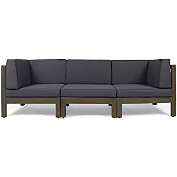 Amazon.com : Babmar Outdoor Luxe 3 Seater Sofa : Garden ...