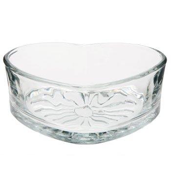 Heart Shaped Bowls (Libbey Heart Shaped Glass Bowl, 6