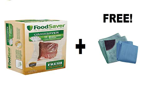 "FoodSaver GameSaver 11"" x 16' Vacuum Seal Rolls, 6 Pack with"