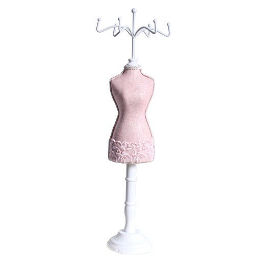 handcrafted-pink-laced-wooden-jewelry-display-stand-organizer-spinning-tower-dress-form-145