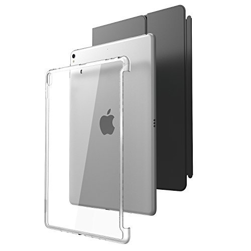"""i-Blason Case for iPad Pro 10.5"""" (2017 Release) and iPad Air 3 10.5"""" 2019 (3rd Generation), [Compatible with Official Smart Cover and Smart Keyboard] Clear Hybrid Cover [Updated Version] (Clear)"""