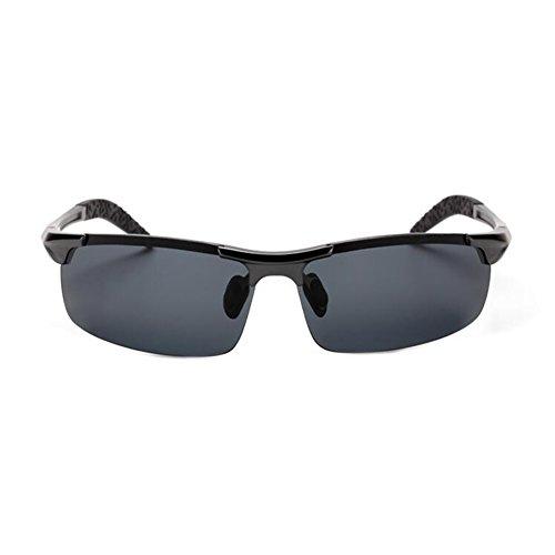 Color Protección Anti Negro La WYYY Gafas UV Libre Marco De Hombres Clásico Medio Solar Polarizada Gafas UVA 100 Plata Protección Aire Sol Luz qq6H47