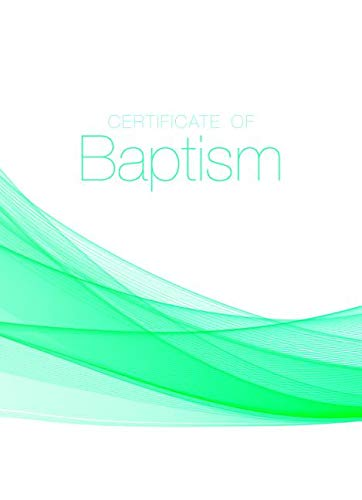 Baptism Certificate (Pk of 6) - 5x7 Folded, Full Color pdf
