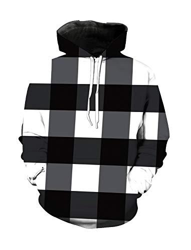 WAZZIT Unisex 3D Printed Long Sleeve Hoodies Hooded Casual Sweatshirts Pocket Pullover, M ()