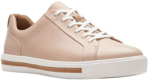CLARKS Womens Un Maui Lace Sneaker, Nude Leather, Size 8.5 Wide