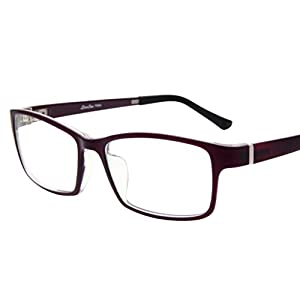 LIANSAN Womens Optical Glasses Mens TR Frames Non Prescription Eyeglasses TR8630 Purple