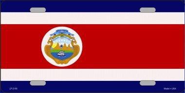 Smart Blonde Costa Rica Flag Metal Novelty License Plate ()
