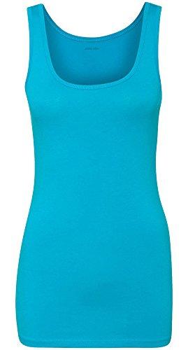 Joe's USA Women's The Jersey Tank Top-M-Turquoise (Turquoise Tank Top)