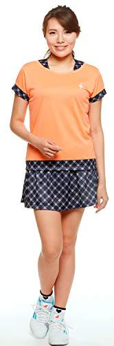 (シンプソン) Simpson テニス ウェア レディース 吸汗速乾 UVカット チェック柄 スコート (スパッツなし スカート) STW-82204P
