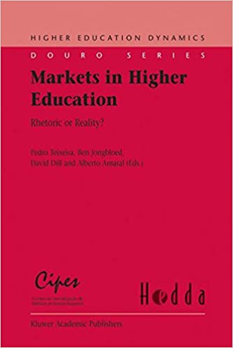 markets in higher education amaral alberto teixeira pedro dill david d jongbloed ben b
