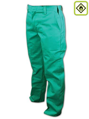 (Magid Glove & Safety 2531-54U Magid A.R.C. 2531 Unhemmed Green Arc-Resistant Heavy Duty Pants, 54x30, Green, 54 Unhemmed)