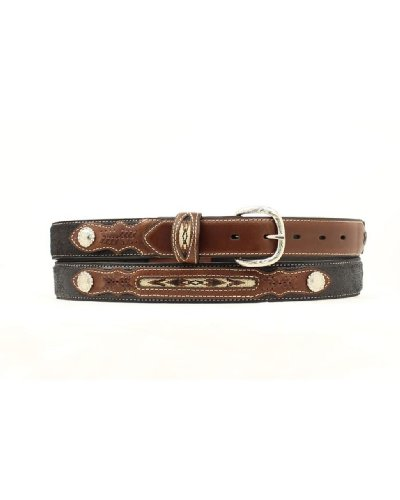 Concho Western Leather (M & F Western Boys' Inset And Concho Adorned Leather Belt Black)