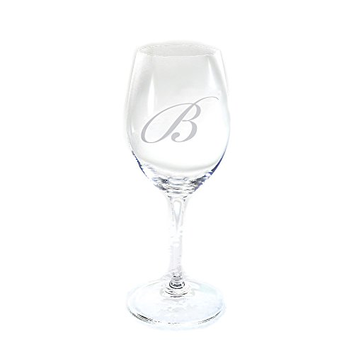 Monogrammed Wine White - Personalized Crystal Riedel DG White Wine Glass, Set of 4, Engraved Wine Glasses, Monogrammed Glasses, Personalized Wine Glasses, Stemmed Wine Glasses, Etched Wedding Gifts