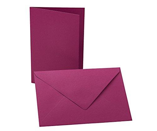 Faltkarten mit Umschlag B6 brombeere