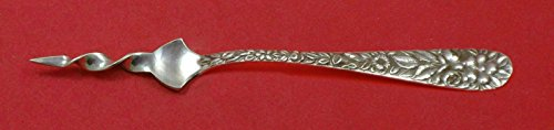 (Hand Chased Rose by Schofield Sterling Silver Butter Pick Twisted 5 3/4