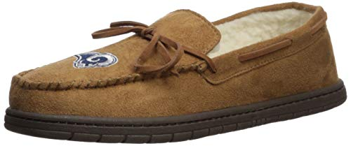 FOCO NFL Los Angeles Rams Mens Football Team Logo Moccasin Slippers Shoesfootball Team Logo Moccasin Slippers Shoes, Team Color, Large (11-12)
