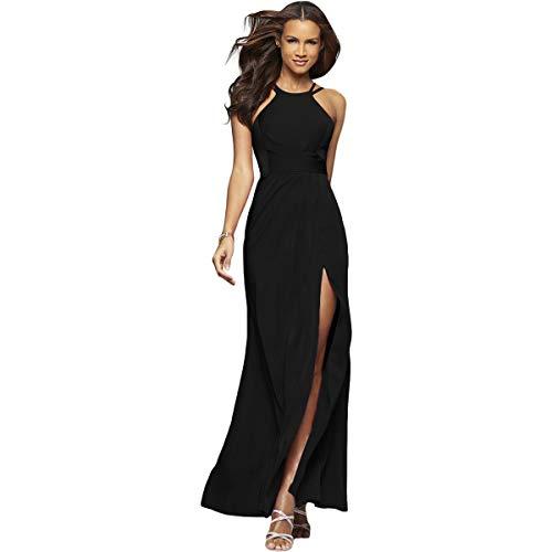 Faviana Womens Satin Prom Evening Dress Black 2