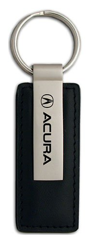 acura-black-leather-key-chain