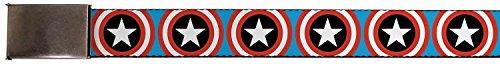 Captain America Belt (Buckle-Down Men's Buckle-Down Web Belt Captain America 1.25