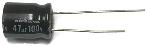 - Set of 10, 105°C Electrolytic Capacitor 47uF 100V (47 mfd 100V) 20% Radial, 3/8