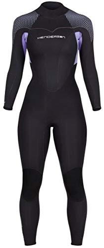 Henderson Women's Thermoprene Pro Wetsuit 5mm Back Zip Fullsuit Black/Lavender